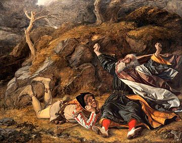 King Lear and the fool in the tolry  William Dyce