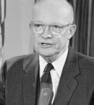 President Dwight D. Eisenhower is shown during his farewell television address to the nation made from the White House in Washington, Jan. 18, 1961. (AP Photo/Bill Allen)
