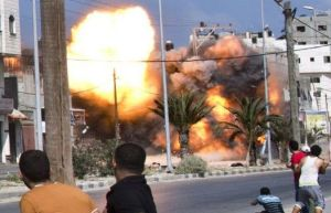 Gaza City bomb AFP