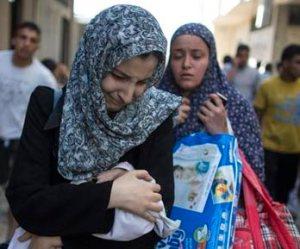 Fleeing Rafah